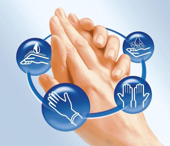 Продезинфицировать руки, помещение и инструменты.
