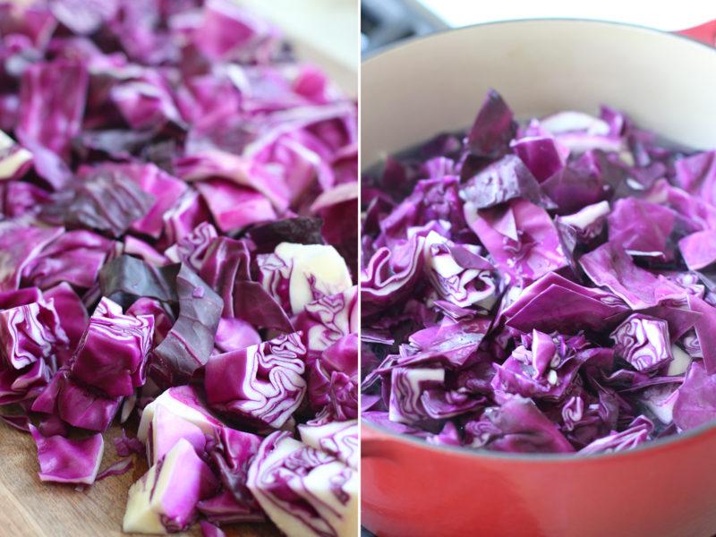 Капуста красного цвета является идеальным вариантом для приготовления разнообразных салатов, а также вареных, тушеных и жареных блюд