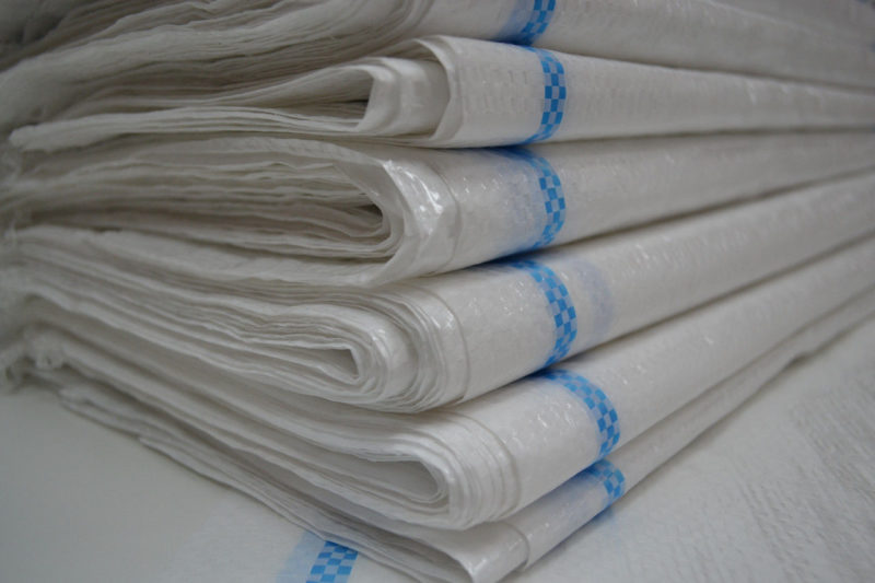 Белые полипропиленовые мешки