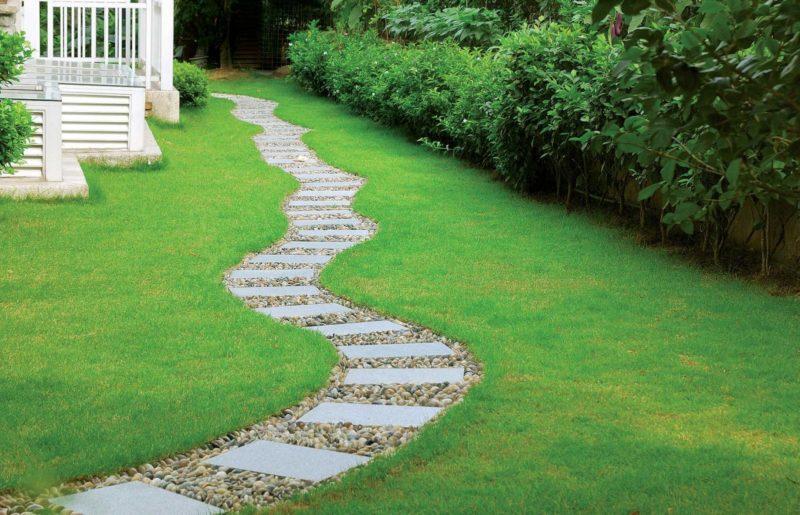 Край садовых дорожек – 0,7 и 0,5 метра